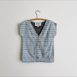 Ace & Jig chambray striped top